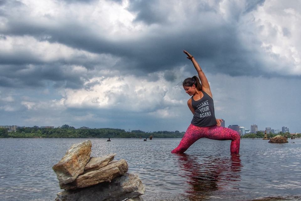 "12dece03ca6df Shake Your Asana tank and Bloom leggings from Inner Fire. Save 15% with  ""CiaraBea"" on amazon.ca!"